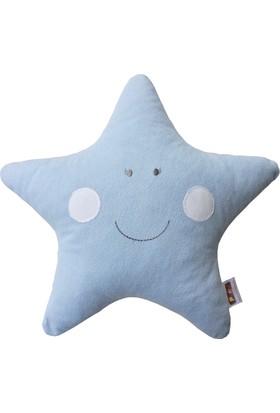 Pudra Decor Mavi Yıldız Yastık