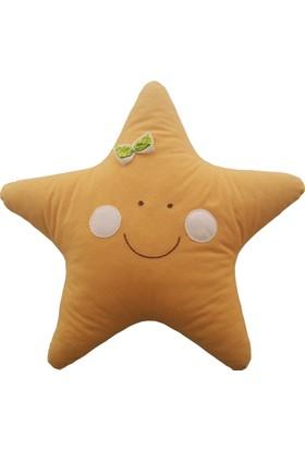Pudra Decor Turuncu Yıldız Yastık