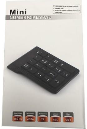 Mini 18 Tuşlu Numerik Keypad Usb 2.0 Kablolu