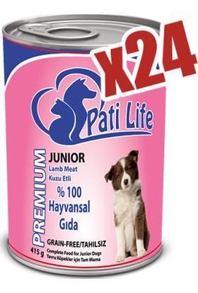 Pati Life 24'Lü Kuzu Etli Konserve Yaş Köpek Maması 415 Gr