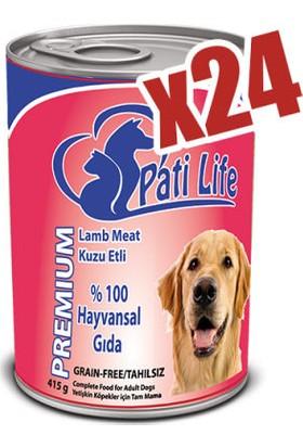 Pati Life 24 Lü Premium Lamb Kuzu Etli Yaş Köpek Maması 415 Gr