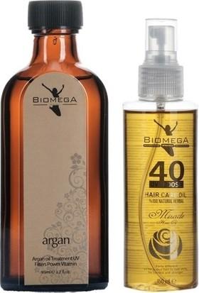 Biomega Argan Serum 95 ml + 40 Bitki Saç Yağı