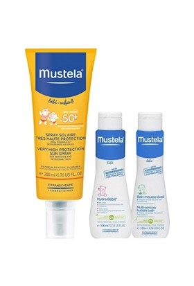 Mustela Güneş Losyonu Spf 50+ 200 ml Hydra Bebe Ve Dermo Cleansing 100 ml