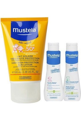 Mustela Güneş Losyonu Spf 50+ 100 ml Hydra Bebe Ve Dermo Cleansing 50 ml
