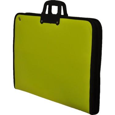 GözdeProje Suni Deri 38*53*5 cm Neon Sarı Proje Çantası Fiyatı