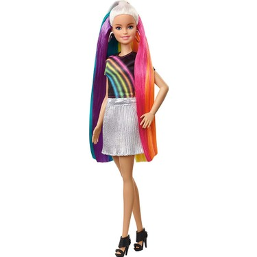 Barbie Gokkusagi Renkli Saclar Bebegi Fxn96 Fiyati