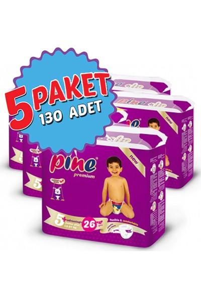 Pine Bebek Bezi 5'li Paket 5+ Beden 130 Adet