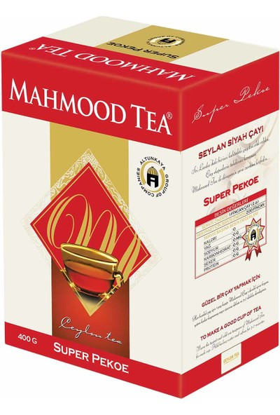 Mahmood Tea Super Pekoe Seylan Çayı 400 gr