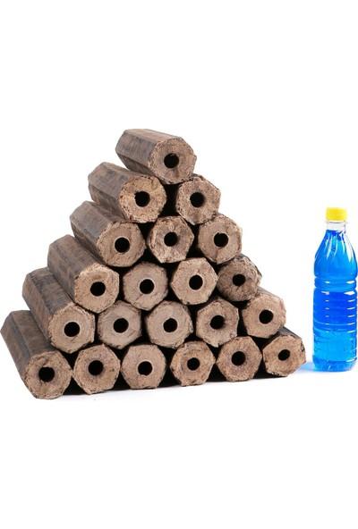 Narımpa Pres Şömine Odunu 15 kg Yanında Jel
