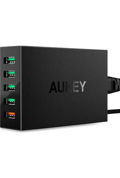 Aukey PA-T15 5 Portlu Qualcomm 3.0 55.5W USB Hızlı Seyahat Şarjı