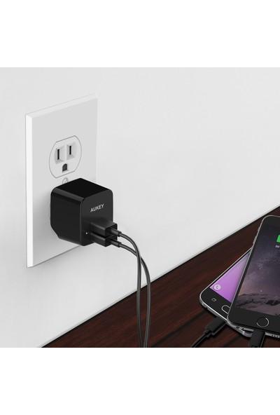Aukey PA-U32 Dual 2 Portlu 12W USB Şarj C. Ai Power Akıllı Şarj