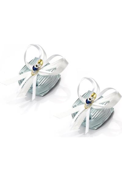 Melodi Dekorlu Boncuk Baton Mavi 350gr - Erkek Bebek Çikolatası