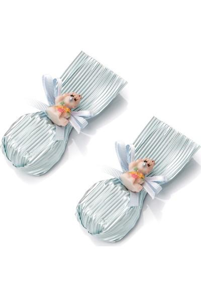 Melodi Bebekli Çiçek Baton Mavi 300gr - Erkek Bebek Çikolatası