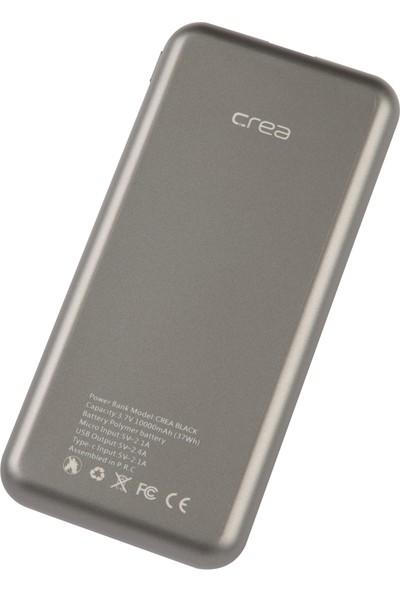 Crea 10000 mAh Powerbank Taşınabilir Hızlı Şarj Cihazı Silver