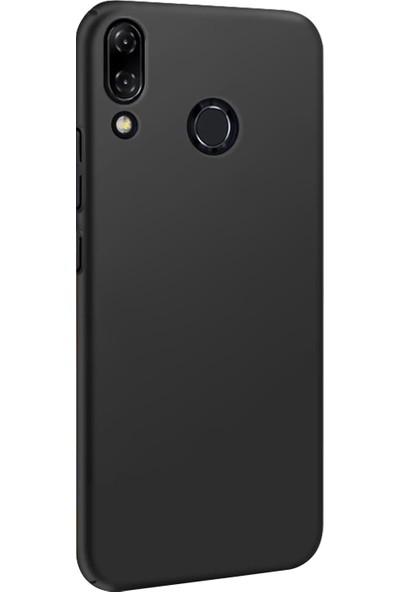 Microsonic Asus Zenfone 5Z (6.2'') ZS620KL Kılıf Slim Fit Rubber Siyah + Nano Cam