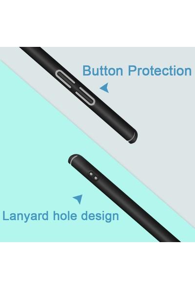 Microsonic Asus Zenfone 5Z (6.2'') ZS620KL Kılıf Slim Fit Rubber Lacivert + Nano Cam