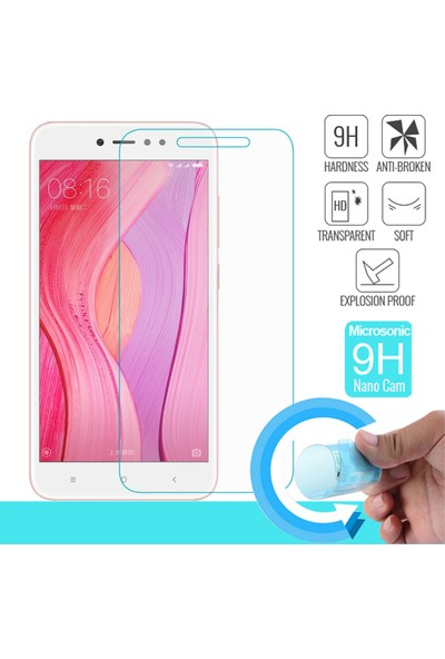 Microsonic Huawei Redmi Note 5A Prime Kılıf Slim Fit Rubber Lacivert + Nano Cam