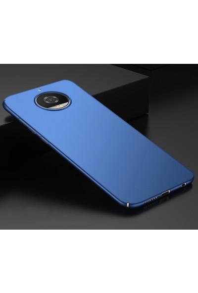 Microsonic Motorola Moto G5S Kılıf Slim Fit Rubber Lacivert + Nano Cam