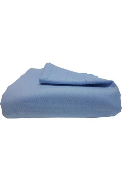 Dısahome - Basics %100 Pamuk Pike Tek Kişilik Açık Mavi 160x230 Cm