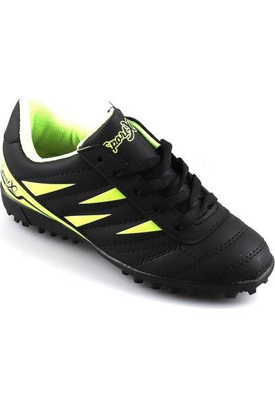 Runutchi 860 Siyah Sarı Halısaha Erkek Çocuk Futbol Ayakkabı