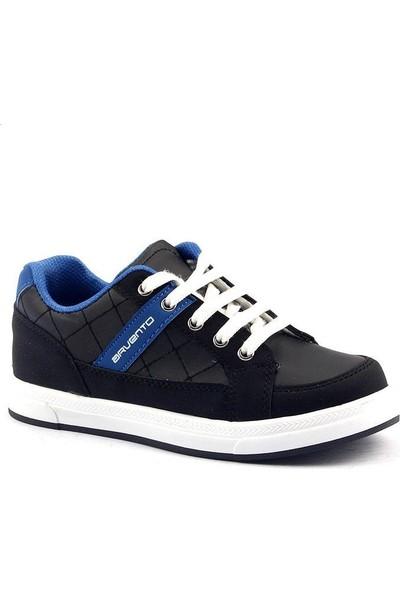 Arvento 895 Siyah Günlük Koşu Fermuarlı Erkek Çocuk Spor Ayakkabı