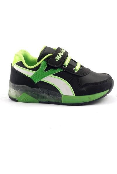 Arvento 880 Siyah Işıklı Günlük Yürüyüş Erkek Çocuk Spor Ayakkabı