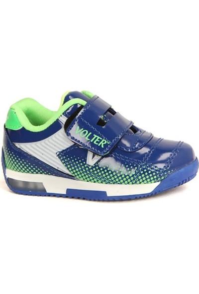 Volter 234 Mavi Işıklı Cırtlı Günlük Erkek Çocuk Spor Ayakkabı