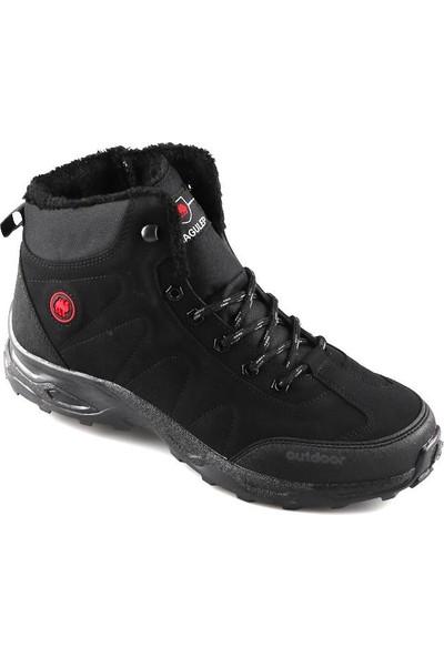 Jagulep 1025 Siyah Günlük Büyük Numara Erkek Bot Ayakkabı
