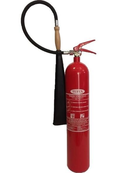 Tufex CO2 (Karbondioksit) Yangın Söndürme Tüpü 5 kg