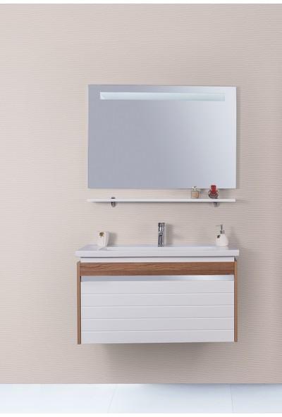 Lineart Delta 100 Cm Ledli Banyo Dolabı