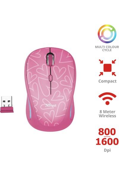 Trust 22336 Yvi Kablosuz Mouse - Pembe