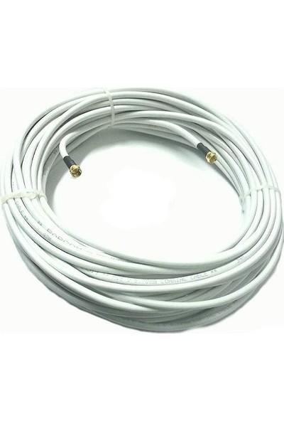 Erk Gold F Konnektörlü Hazır 80 Tel Uydu Anten Kablosu Full Hd Uyumlu Rg6
