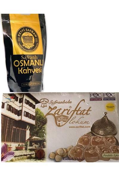 Keyfi Safran Muhteşem İkili 200 gr Safranlı Kahve,Fındıklı Safranbolu Lokumu 420 gr
