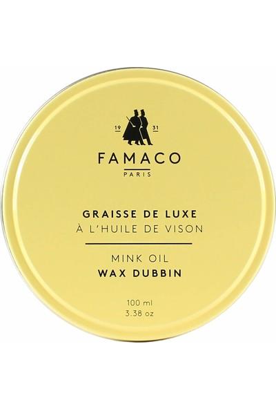 Famaco Paris Dubbin Wax Yağlı Deriler İçin Bakım Cilası 100 ml Renksiz