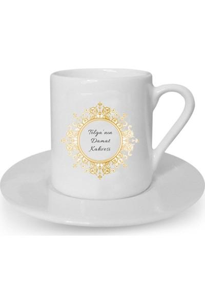 Mutlu Mutfak Atölye Kişiye Özel Tasarım Türk Kahvesi Fincanı Damat Kahvesi