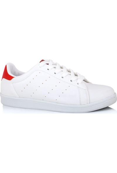 Lig 18-01-80 Kırmızı - Beyaz Spor Ayakkabısı