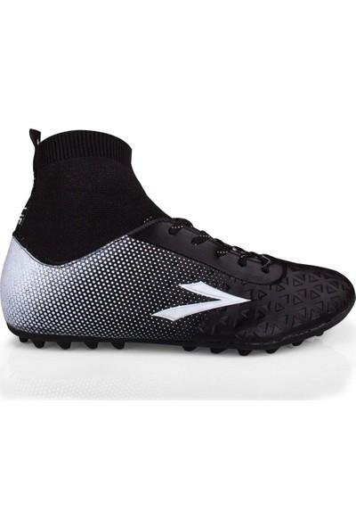 Lig Simav Çoraplı Halı Saha Ayakakabısı Siyah 10