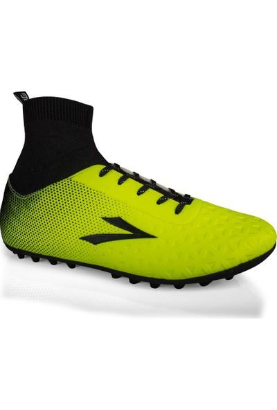 Lig Simav Çoraplı Halı Saha Ayakakabısı Sarı 35