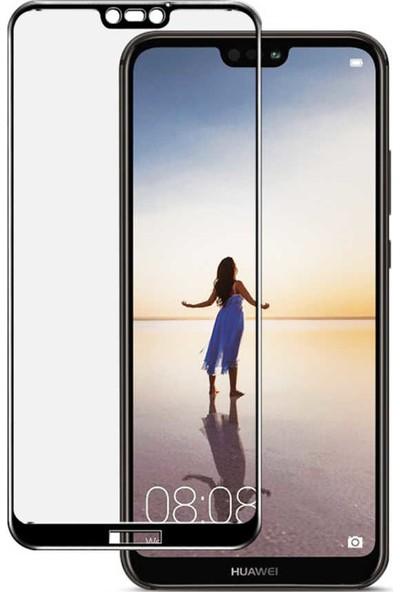 Evastore Huawei P20 Pro Ekranı Tam Kaplayan Düz Cam Koruyucu - Siyah