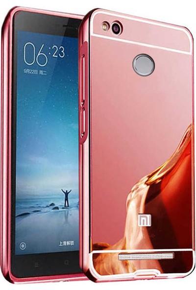 Evastore Xiaomi Redmi 3S Kılıf Zore Aynalı Bumper - Rose Gold