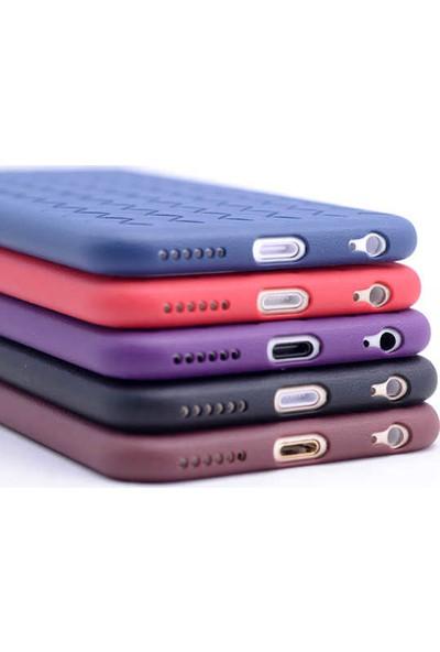 Evastore Apple iPhone 7 Kılıf Zore Cross Silikon - Mor