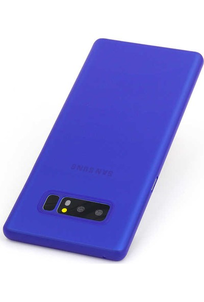 Evastore Galaxy Note 8 Kılıf PP Silikon - Mavi