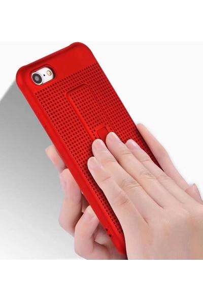 Evastore Apple iPhone 6 Plus Kılıf Zore Jaguar Standlı Silikon - mor