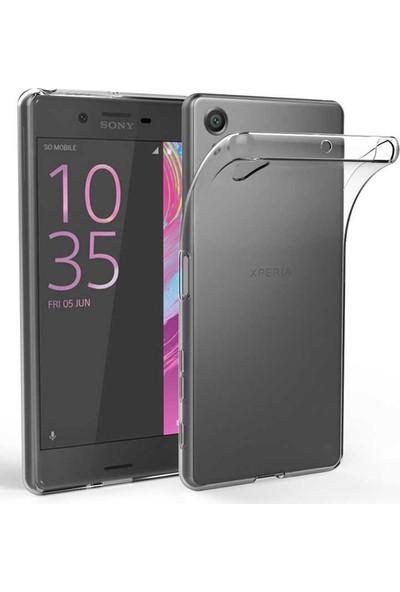 Evastore Sony Xperia XA1 Plus Kılıf Süper Silikon Kapak - Şeffaf