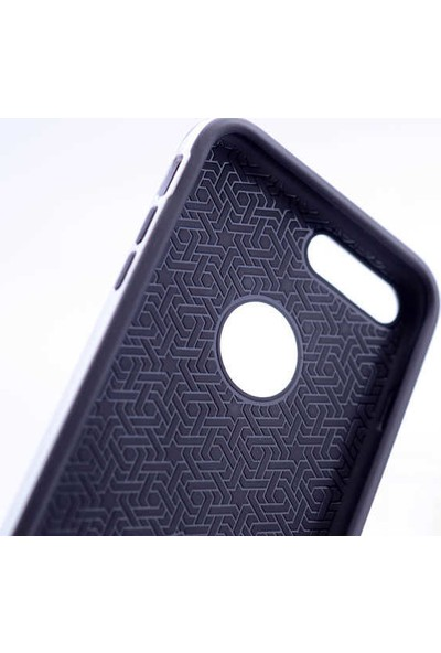 Evastore Apple iPhone 7 Kılıf Zore Karbon Mono Silikon - Rose Gold