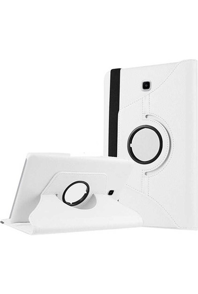 Evastore Galaxy Tab S2 8.0 T715 Dönebilen Standlı Kılıf - Beyaz