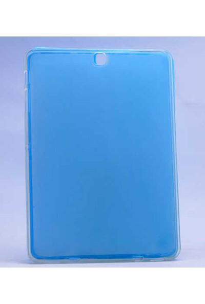 Evastore Galaxy Tab S2 9.7 T815 Kılıf Tablet Süper Silikon Kapak - Mavi