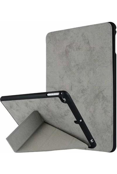 Evastore Apple iPad 9.7 2018 Kılıf Transformation Standlı Kılıf - Gri