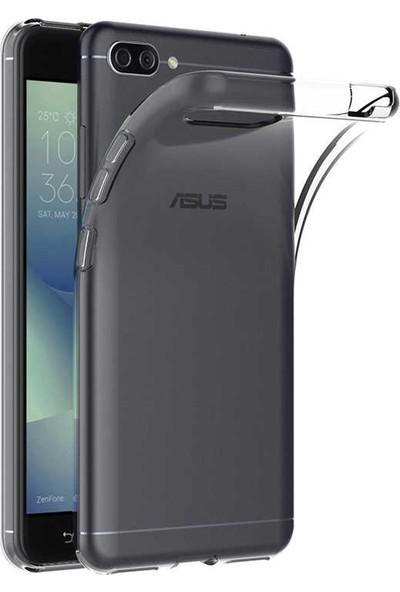 Evastore Asus Zenfone 4 Max ZC520KL Kılıf Süper Silikon - Şeffaf