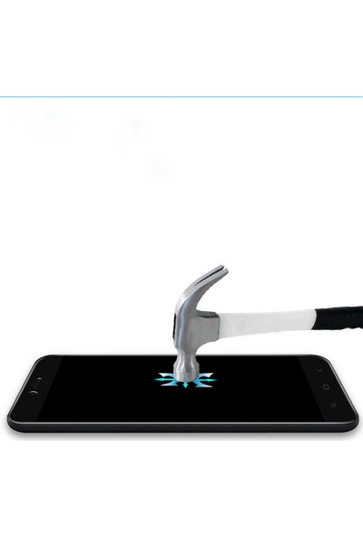 Evastore Xiaomi Mi 5X Kenarları Cam Ekran Koruyucu - Beyaz